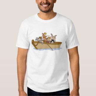 Los muchachos perdidos de Peter Pan en el barco Remeras