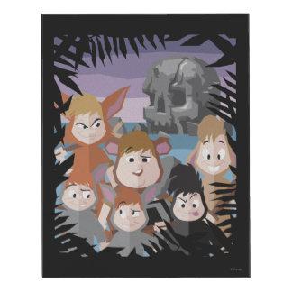 Los muchachos perdidos de Peter Pan en la roca del Impresión En Madera
