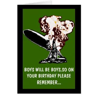 Los muchachos serán cumpleaños de los muchachos tarjeta de felicitación