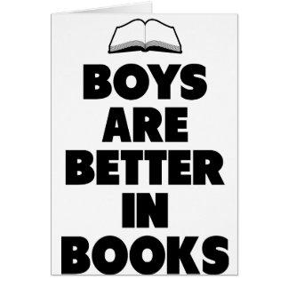 Los muchachos son mejores en libros tarjeton