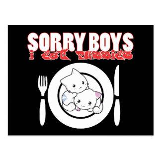 Los muchachos tristes yo como los gatitos - postal