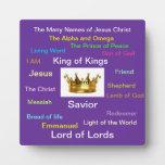 Los muchos nombres de Jesús Placas Con Foto