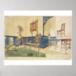 Los muebles Anglo del estilo japonés diseñan por E Póster