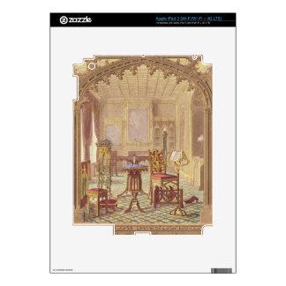 Los muebles góticos de Pugin, por Augustus Charles iPad 3 Pegatina Skin