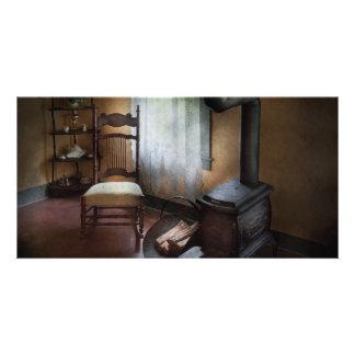 Los muebles - silla - felicidad son un asiento cal tarjetas personales con fotos