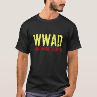 ¿Los muertos malvados, WWAD, qué la ceniza haría? Playera