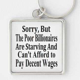 Los multimillonarios no pueden permitirse pagar sa llavero cuadrado plateado