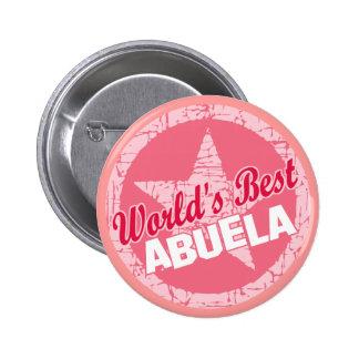 Los mundos el mejor Abuela Pin Redondo De 2 Pulgadas