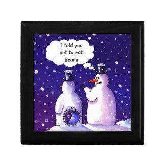 Los muñecos de nieve no comen habas caja de joyas