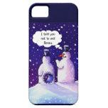 Los muñecos de nieve no comen habas iPhone 5 cárcasa