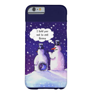Los muñecos de nieve no comen habas funda de iPhone 6 barely there