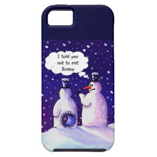 Los muñecos de nieve no comen habas funda para iPhone SE/5/5s