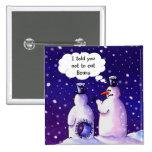 Los muñecos de nieve no comen habas pin