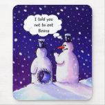 Los muñecos de nieve no comen habas alfombrilla de ratón