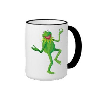 Los Muppets Kermit que baila Disney Taza De Dos Colores