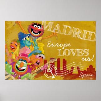 Los Muppets - poster de Madrid, España