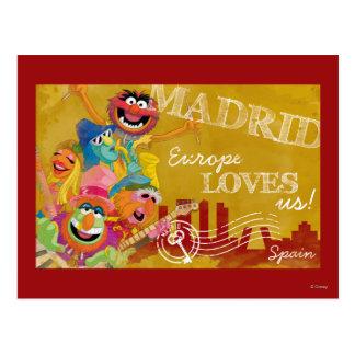 Los Muppets - poster de Madrid, España Postales