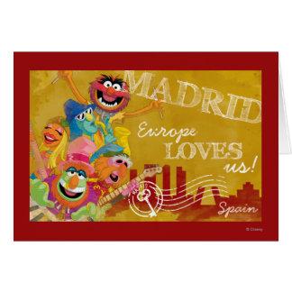 Los Muppets - poster de Madrid, España Tarjeta De Felicitación