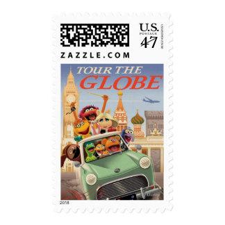 Los Muppets viajan al globo Estampilla