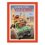Los Muppets viajan al globo Postales