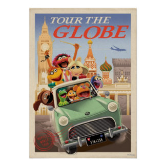 Los Muppets viajan al globo Póster