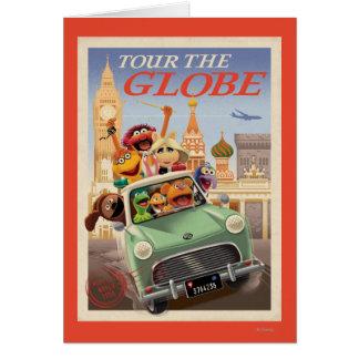 Los Muppets viajan al globo Tarjeta De Felicitación