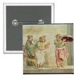 Los músicos de la calle, c.100 A.C. Pin Cuadrado