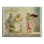 Los músicos de la calle, c.100 A.C. Tarjetas Postales