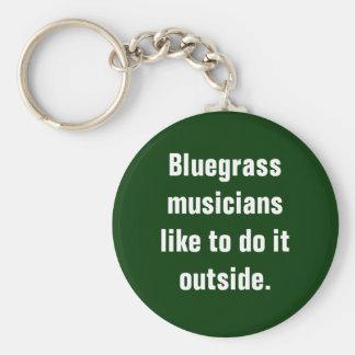 Los músicos del Bluegrass tienen gusto de hacerlo  Llavero Redondo Tipo Pin