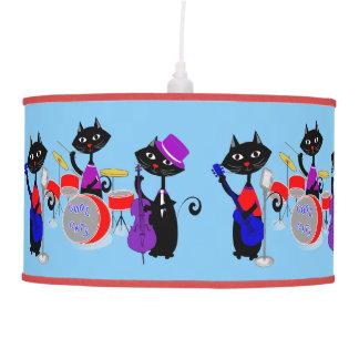 Los músicos divertidos del gato del dibujo animado lámpara de techo