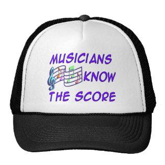 Los músicos saben la cuenta gorro de camionero