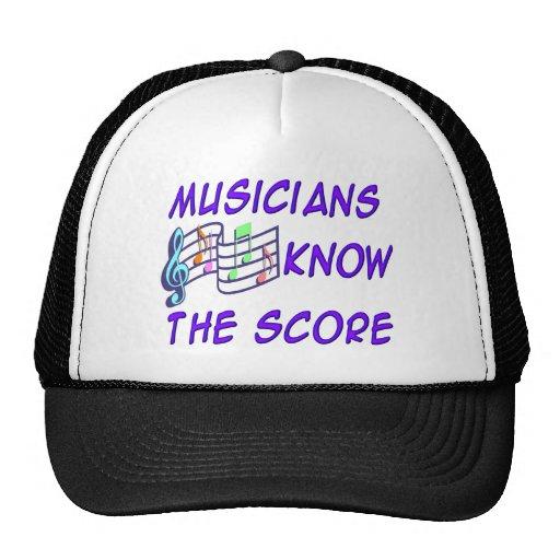 Los músicos saben la cuenta gorros