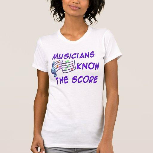 Los músicos saben la cuenta remera