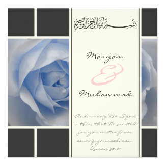 Los musulmanes color de rosa azules del compromiso comunicados