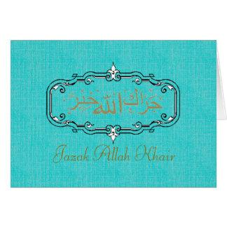 Los musulmanes le agradecen tarjeta pequeña