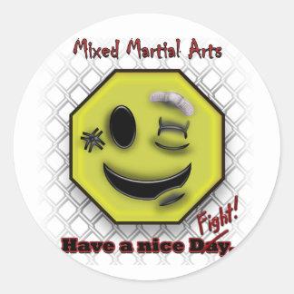 Los Muttahida Majlis-E-Amal sonríen, tienen Niza Pegatina Redonda