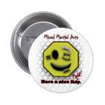 Los Muttahida Majlis-E-Amal sonríen, tienen Niza Pin Redondo De 2 Pulgadas