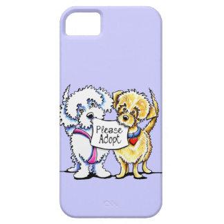 Los Mutts poderosos satisfacen adoptan color de en iPhone 5 Carcasas