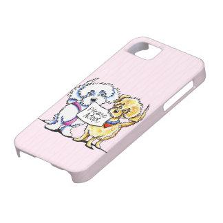 Los Mutts poderosos satisfacen adoptan rosa iPhone 5 Case-Mate Protector