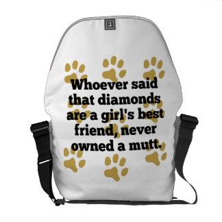 Los Mutts son el mejor amigo de un chica Bolsas De Mensajería