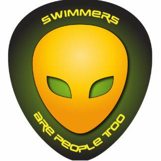 Los nadadores son gente también esculturas fotográficas