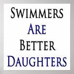 Los nadadores son mejores hijas poster