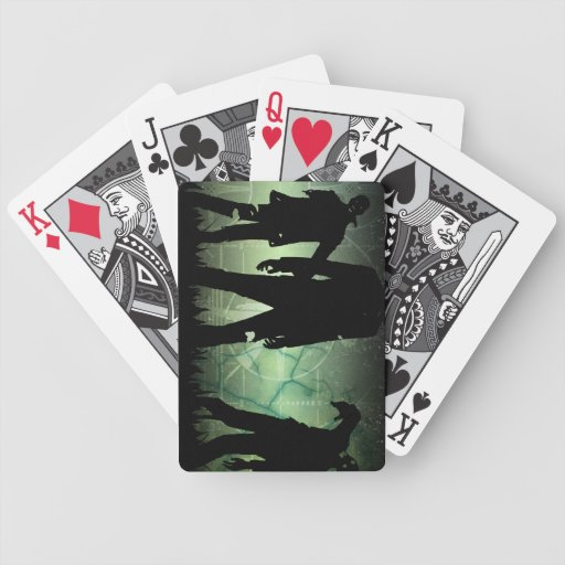Los naipes apenados apocalipsis del zombi barajas de cartas