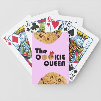 Los naipes de la reina de la galleta cartas de juego
