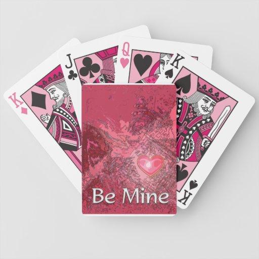 Los naipes de la tarjeta del día de San Valentín Barajas De Cartas