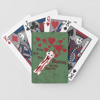 Los naipes de la tarjeta del día de San Valentín d