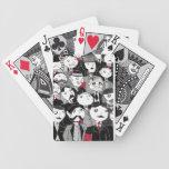 Los naipes de las grietas baraja cartas de poker
