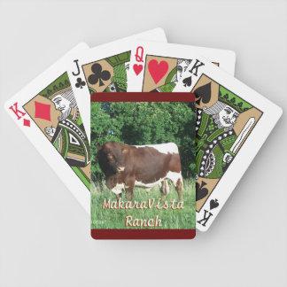 Los naipes de Pinzgauer Bull - personalice Baraja Cartas De Poker