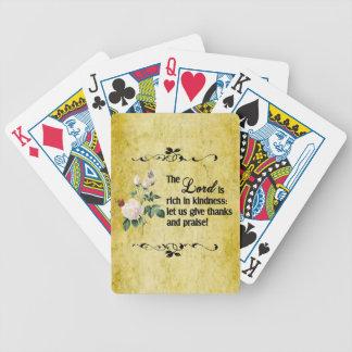 Los naipes de señor Is Rich In Kindness II Baraja Cartas De Poker