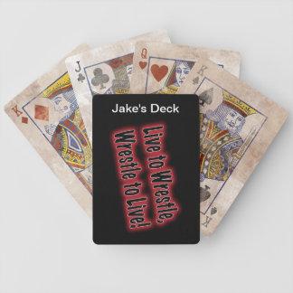 Los naipes del luchador cartas de juego